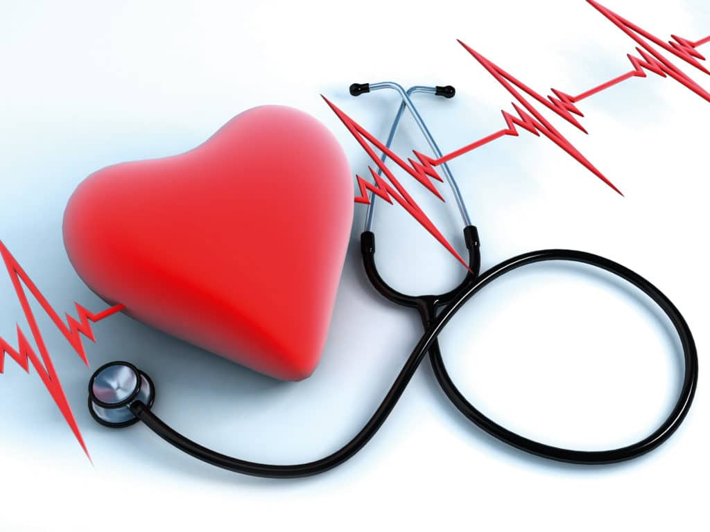 Рисунок сердца со стетоскопом