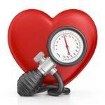 Рисунок тономера на фоне сердца