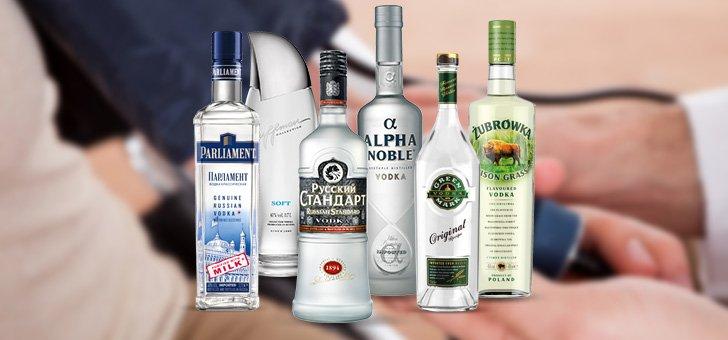Разные бутылки водки