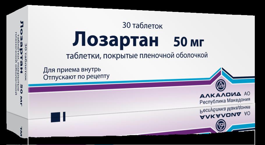 Упаковка таблеток Лозартан