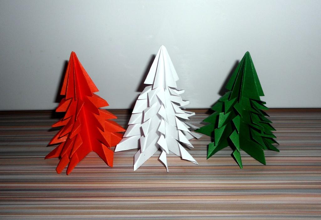 Новогодние елочки из бумаги